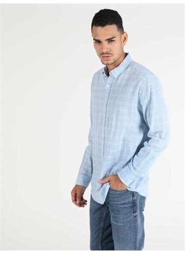 Colin's CL1048582_Q1.V2_BLE  Erkek Uzun Kol Gömlek Mavi